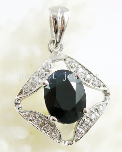 Sapphire necklace pendant Natural sapphire charm pendants 925 sterling silver Perfect jewelry #15042401