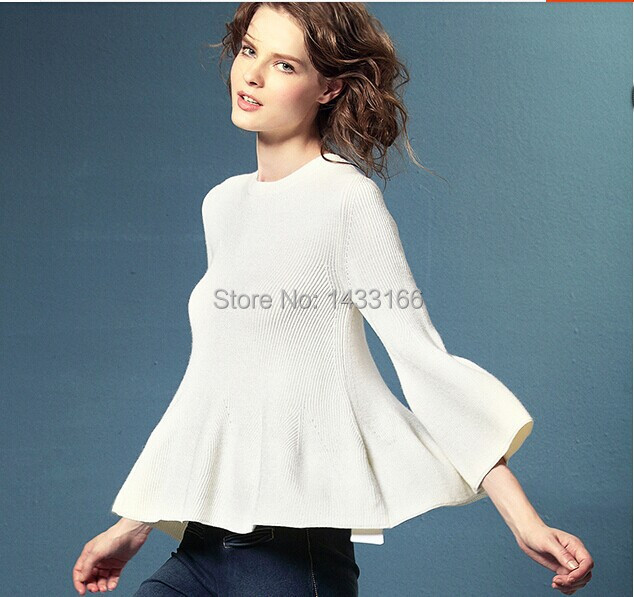2014 new hot skirt Low round neck short paragraph bottoming genuine cashmere sweater, cashmere sweaters(China (Mainland))