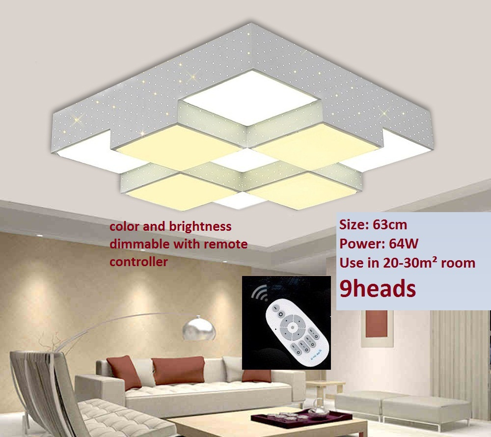 Aliexpress.com : koop 9 hoofd 64w witte kleur metalen plafond ...