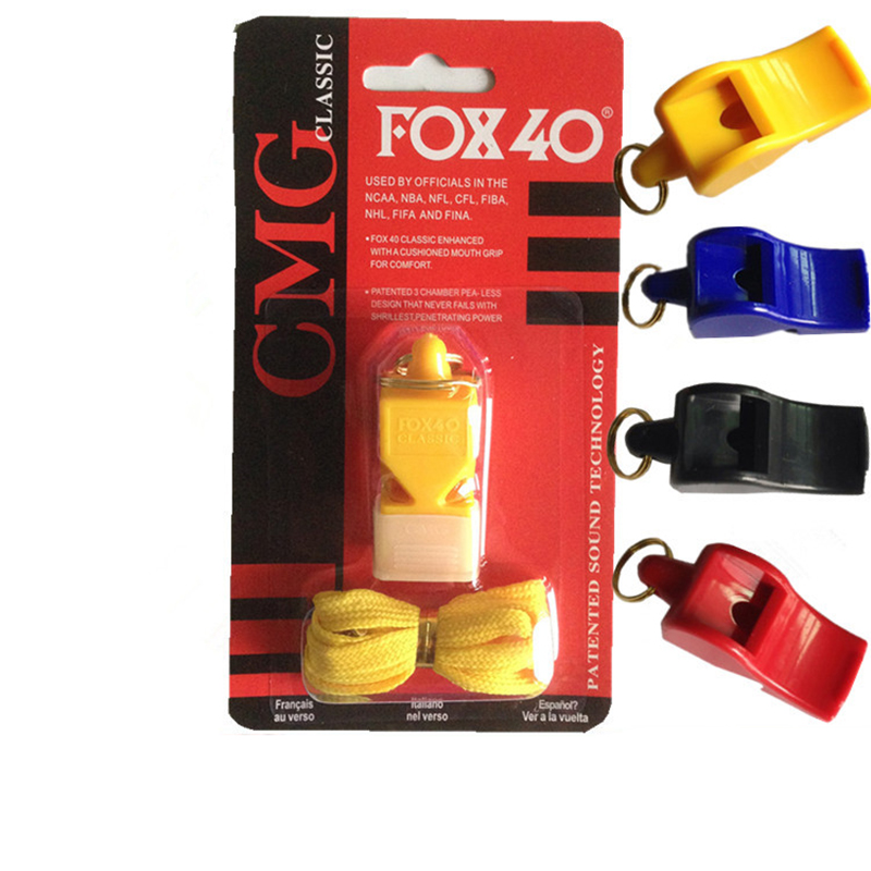 Plastic FOX 40 Soccer Football Basketball Hockey Sports Classic Referee Whistle Survival Outdoor plastic butterfly fox nuclear(China (Mainland))
