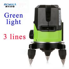 Del envío del nuevo lanzamiento exterior 3 línea 2V1H red Borka verde laser cross line autonivelante 360 línea de rotary piso láser niveles láser