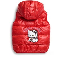 Children Outerwear Girls Parka Vest Princess Waistcoat Baby Kids Hello Kitty Jacket Coat for Autumn Winter