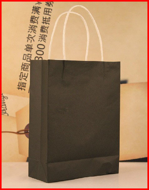 Free shipping !! 40pcs/lots 24cm*8cm*35cm Five color kraft paper gift bag, Festival gift bags, Paper bag with handles, wholesale(China (Mainland))