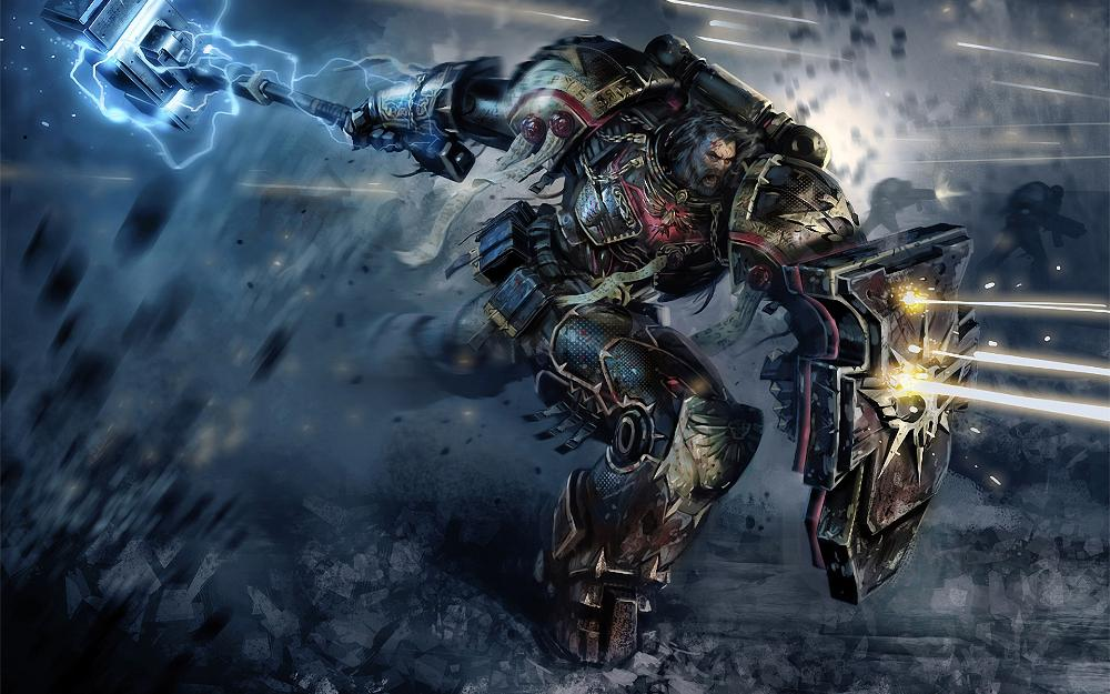 Living room home wall decoration fabric poster Space marines Warhammer(China (Mainland))
