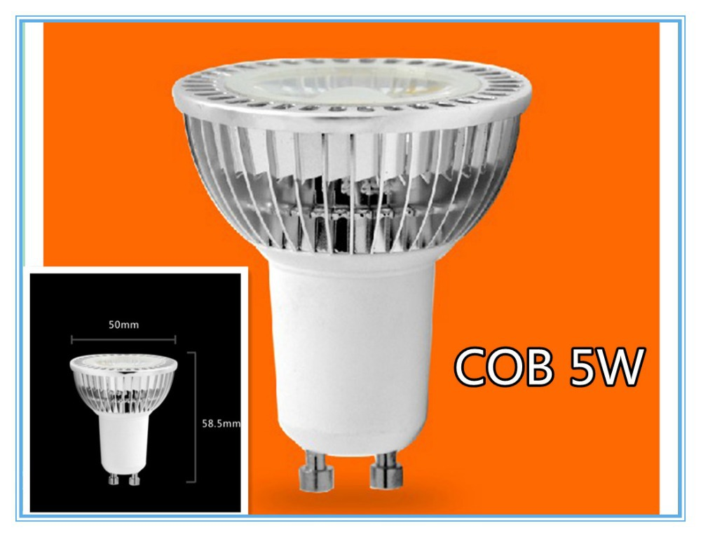 Best Quality LED Spotlight GU10 5W COB LED Light Bulbs Cool White/Warm White AC85-265V 6 PCS/LOT<br><br>Aliexpress