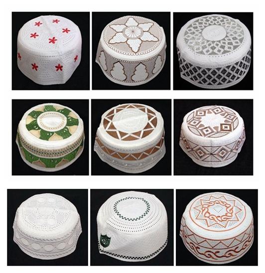2014 New Muslim Prayer Cap Islamic Turkish Arabic Middle East Embroidery Cap, 1lot = 100pcs, free shipping(China (Mainland))