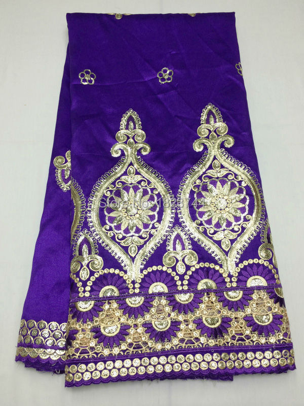 (5yards/lot) AC304-9,High class embroidery george lace fabric in Purple,High quality African cotton lace for dress,free shipping(China (Mainland))