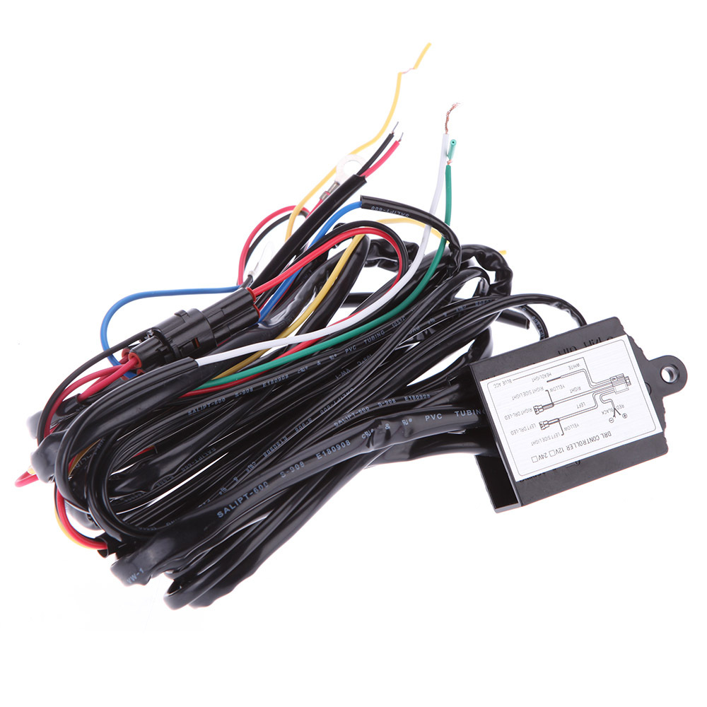 Free Shipping Universal Car Led DRL Daytime Running Light Relay Harness Car Controller Switch 12V Car Led Lamp Bulb Controller<br><br>Aliexpress