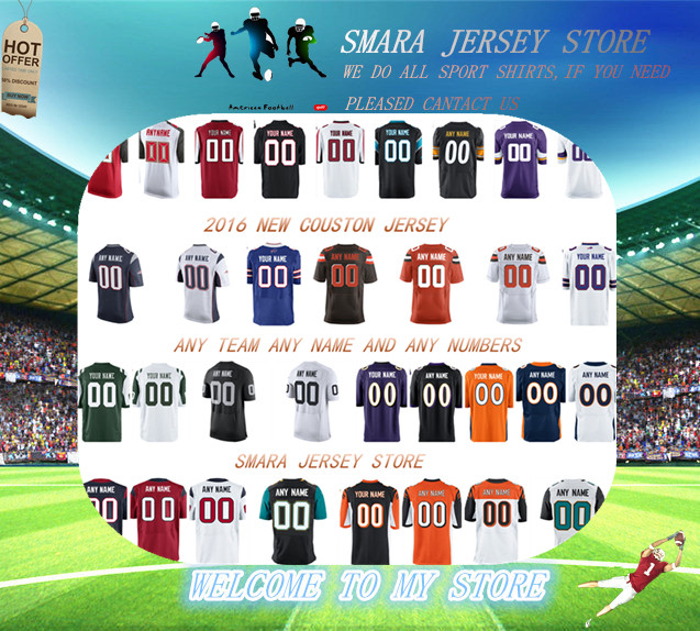 2016 NEW MEN 'S JERSEY ANY TEAM ANY NAME AND NUMBERS CUSTOM FOOTBALL JERSEY 100% Stitched MEN SHIRTS(China (Mainland))