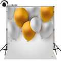Allenjoy Photographic background gold balloon white light baby happy birthday vinyl backdrops for sale photography backdrops