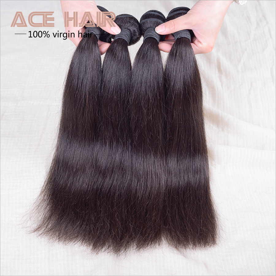Queen Hair Products Cambodian Straight Virgin Hair 4pcs,Cambodian Virgin Hair Aliexpress Hair Extensions Shangkai Bundles(China (Mainland))