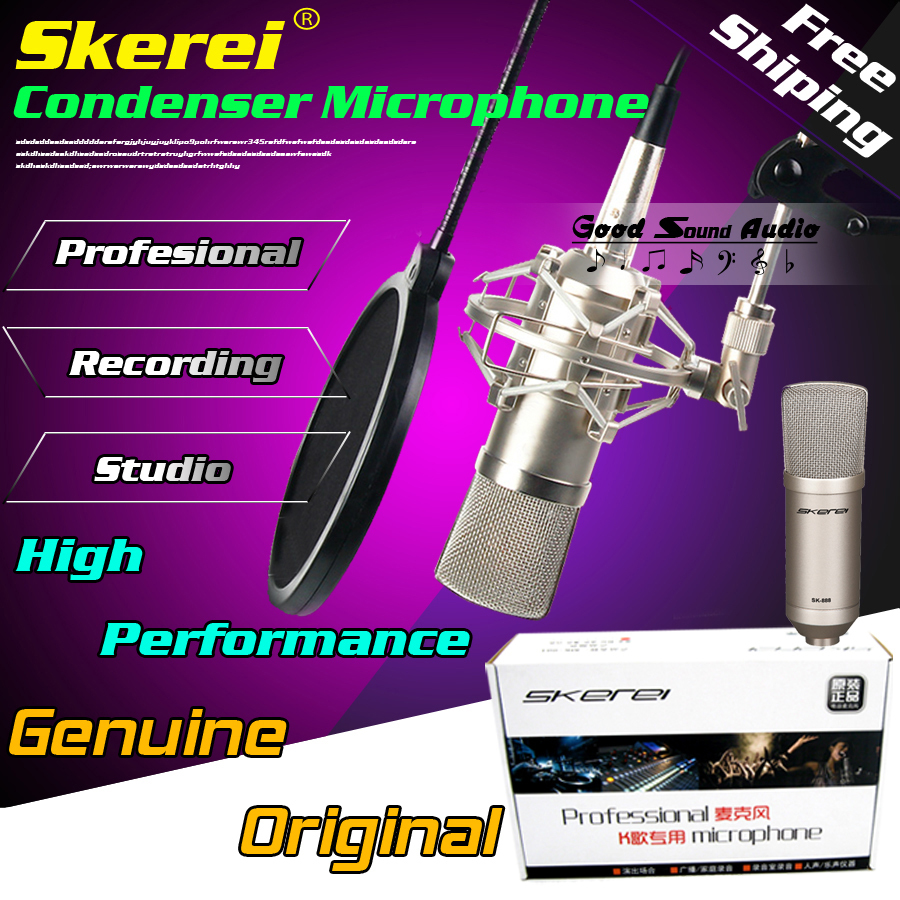 Professional Wired Condenser Mic Recording Studio Microphone For Karaoke System Computer Broadcast Guitar With Shock Mount Set(China (Mainland))