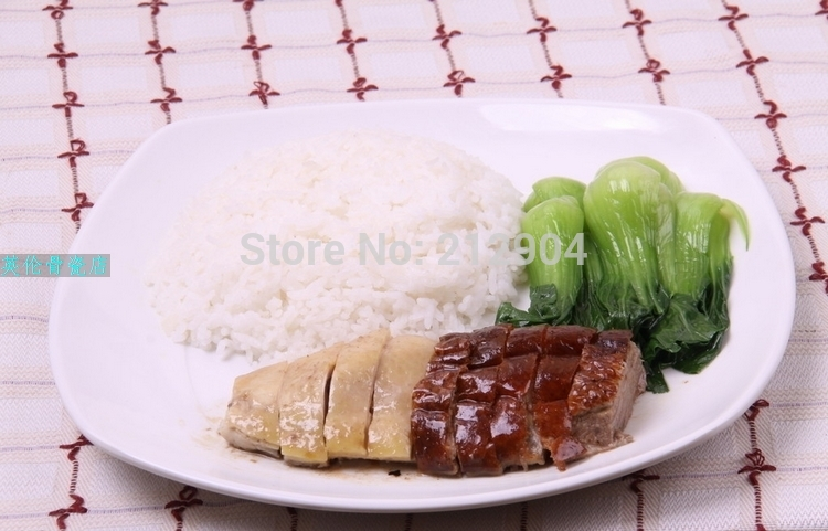 2015 Sale Real Dishes For Restaurant Serving Tray Wholse 8 Inch Pure Bone Tableware Microwavable Flat For Square Dishes & Plates(China (Mainland))