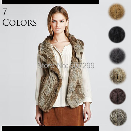 Free shipping 2013 short large size knitted rabbit fur vest for womenОдежда и ак�е��уары<br><br><br>Aliexpress