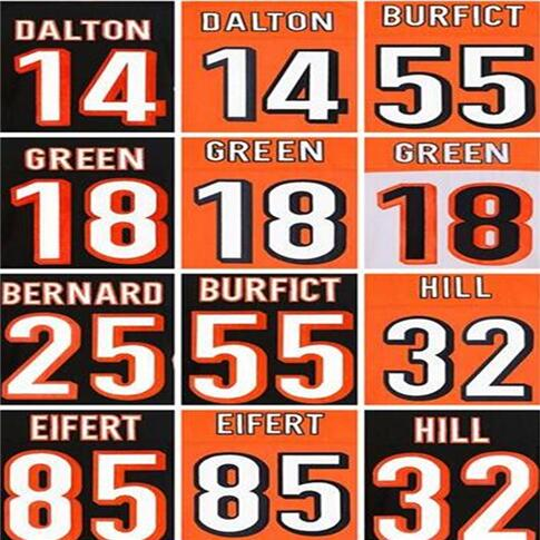 Good quality,men's Andy Dalton jersey 18 A.J. AJ Green 55 Vontaze Burfict 25 Giovani Bernard 32 Jeremy Hill Tyler Eifert jersey(China (Mainland))