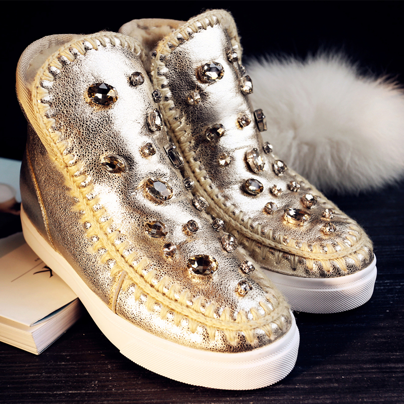 Фотография 2015 New women Casual shoes  Leather shoes for women Size34-39 Height Increasing Spring Winter Shoes