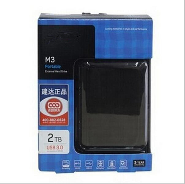 Three years of high quality warranty M3 1TB 2TB external HDD 2000GB portable hard drive disk USB 3.0 100% original new(China (Mainland))