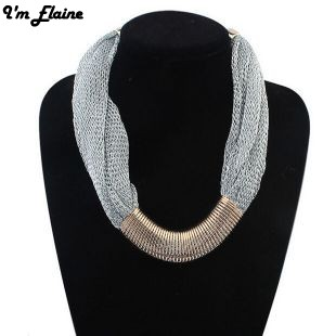 Elaine Fashion women necklace Round Classic choker necklace Luxury Jewelry Gold Plated tassel necklaces Statement Design