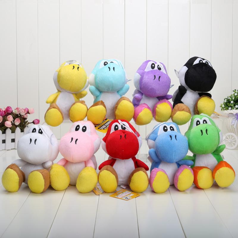 17CM Super Mario Bros Yoshi Plush Stuffed toys Dolls Mario Plush Toys Free shipping(China (Mainland))