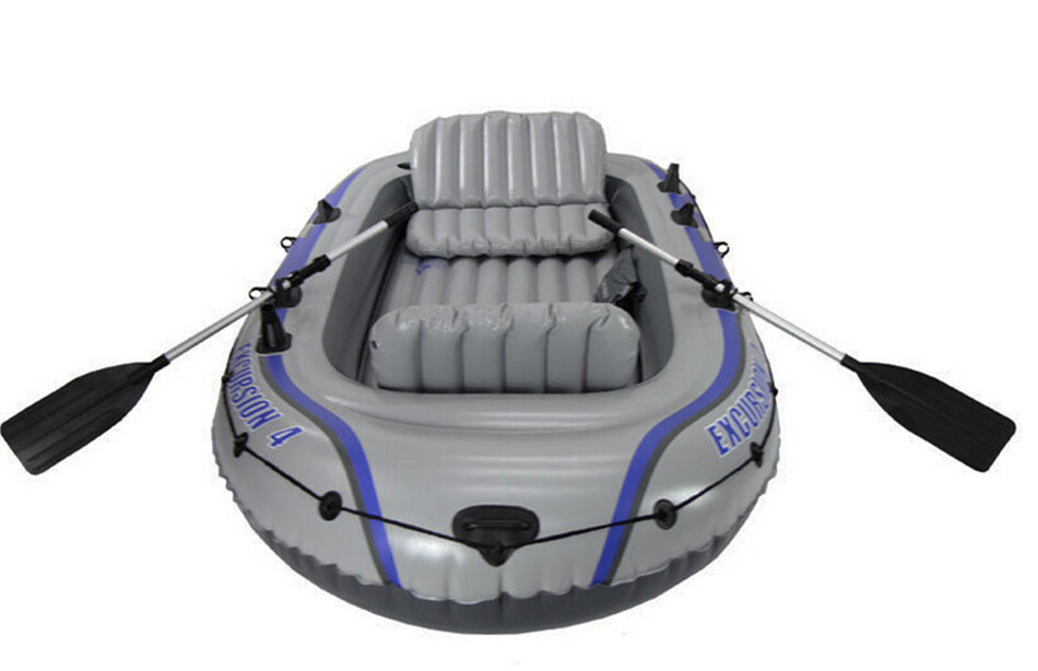 INTEX EXCURSION 4 person inflatable boat 315*165*43cm, 137cm Alumnium oars, inflation pump, repair patch(China (Mainland))