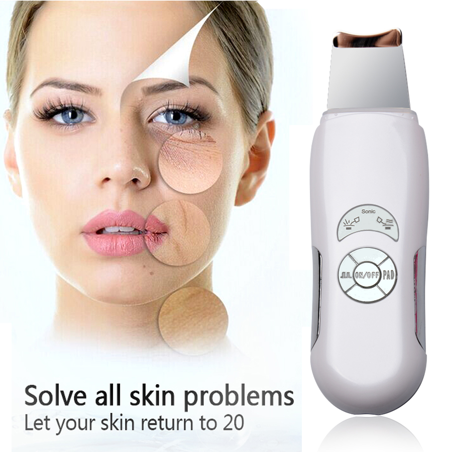 2016 Deeply ultrasonic face skin cleaner device blackhead removal Device shovel machine face exfoliator deeply clean the skin(China (Mainland))