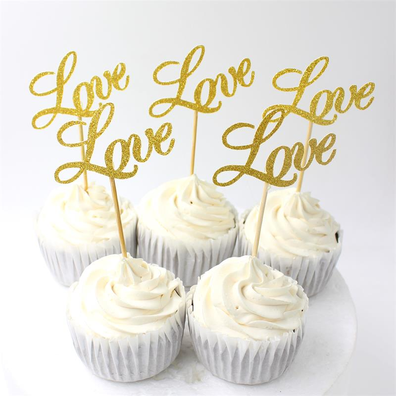 Topper Set For Wedding Party Cake Decoration Supplies 10pcs In Cake