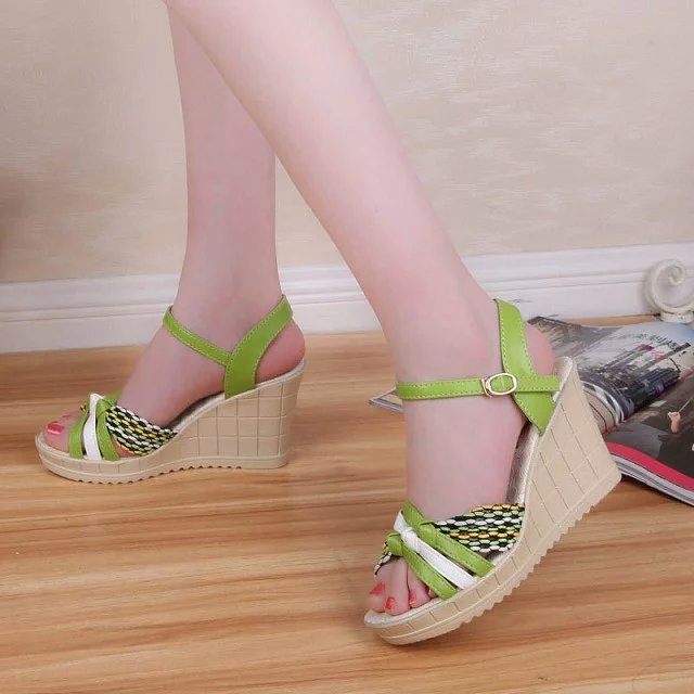 Women NEW High Heel High Fashion Lady Sexy Sandals Heels Shoes P372 Hot Sell High Quality ! Women Sandals Summer Wedges Sandals(China (Mainland))
