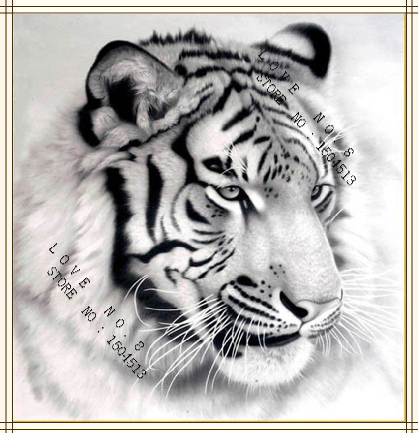 2015 new needlework diamond embroidery pasted painting full drill diamond painting fashion wall decorative tiger  free shipping