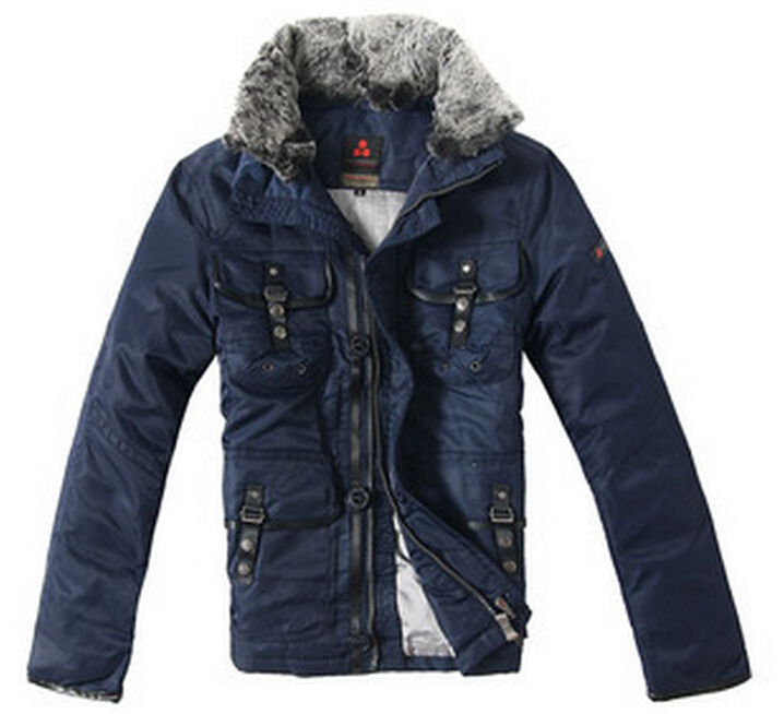 HOT ! Free shipping 2015 Cheap Peuterey men multi-pocket jacket outer wear fur collar down jacket thicker section deals / M-XXL(China (Mainland))