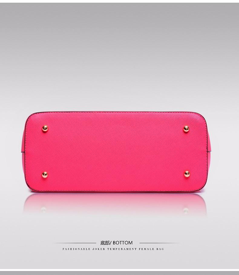 Women Elegant Large Hand Bag Stylish Simple Embossed PU Leather Handbag Fashion Luxury Elegant Ladies Shoulder Bag