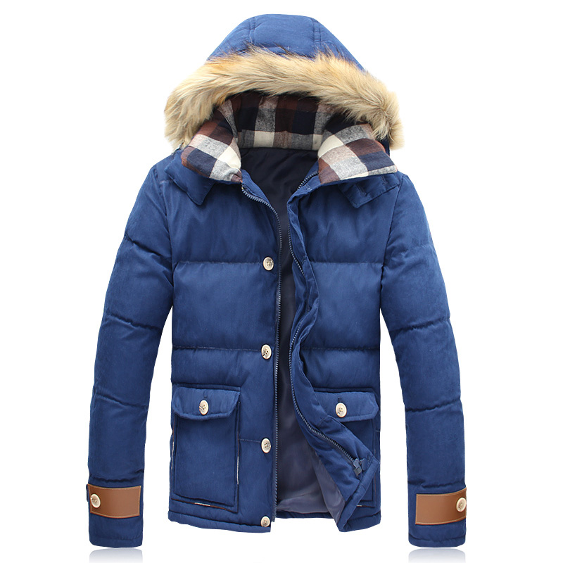 Brand Korean Man Fashion Warm Parkas Size M-5XL Patchwork Design Cotton-Padded Style Young Men Winter Down Jackets Fur-HoodedОдежда и ак�е��уары<br><br><br>Aliexpress