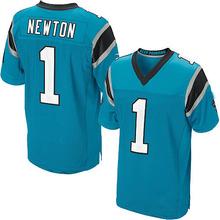 Men's #1 Cam Newton Elite Blue Alternate Football Jersey %100 Stitched(China (Mainland))