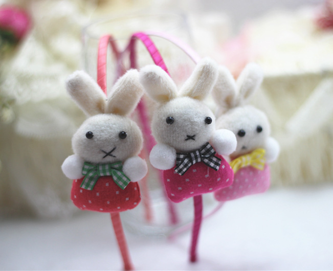 F316 children cartoon rabbit hair band Cartoon stereo head buckle hair accessories(China (Mainland))