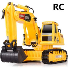 Electric engineering vehicles toys,1:24  Wireless Excavator , 8 channel  remote control, excavator truck, free shipping(China (Mainland))