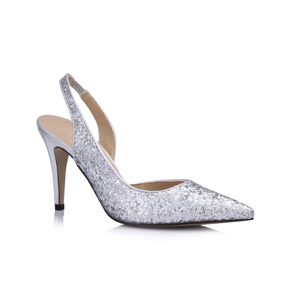 Silver And Gold High Heels