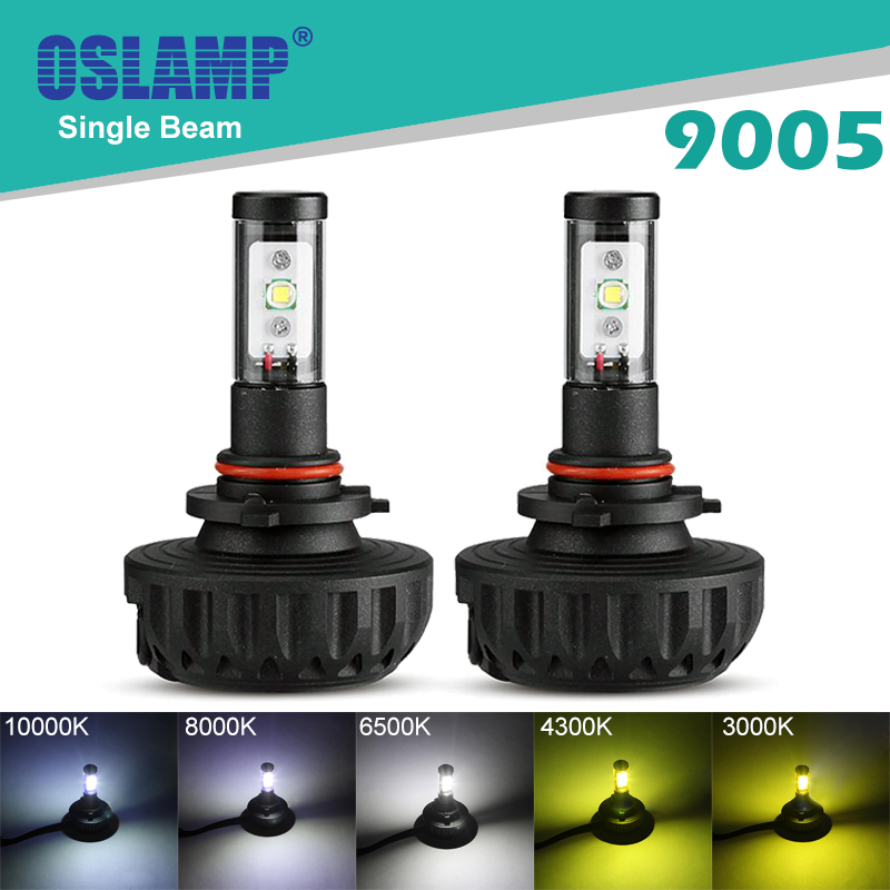 Oslamp Cree Chips #9005(HB3) 6500K Single Beam LED Car Headlight 2WD Auto Styling SUV Head Light 40W/Pair LED Fan-less Head Lamp(China (Mainland))