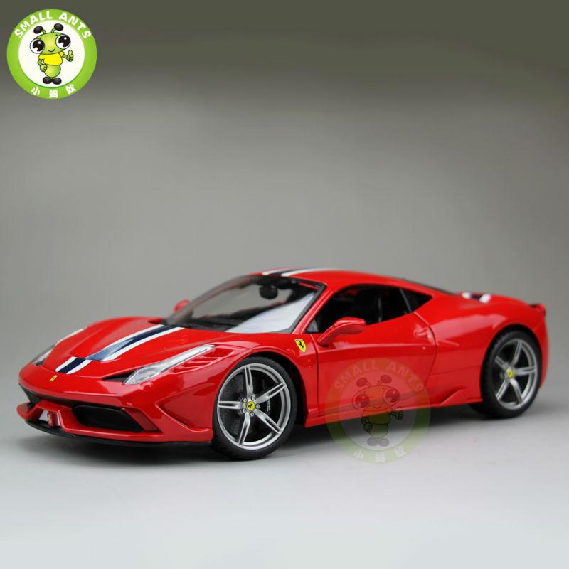 1:18 Scale Ferrar 458 Speciale 2014 Diecast Car Model Bburago BBU16002 Red(China (Mainland))