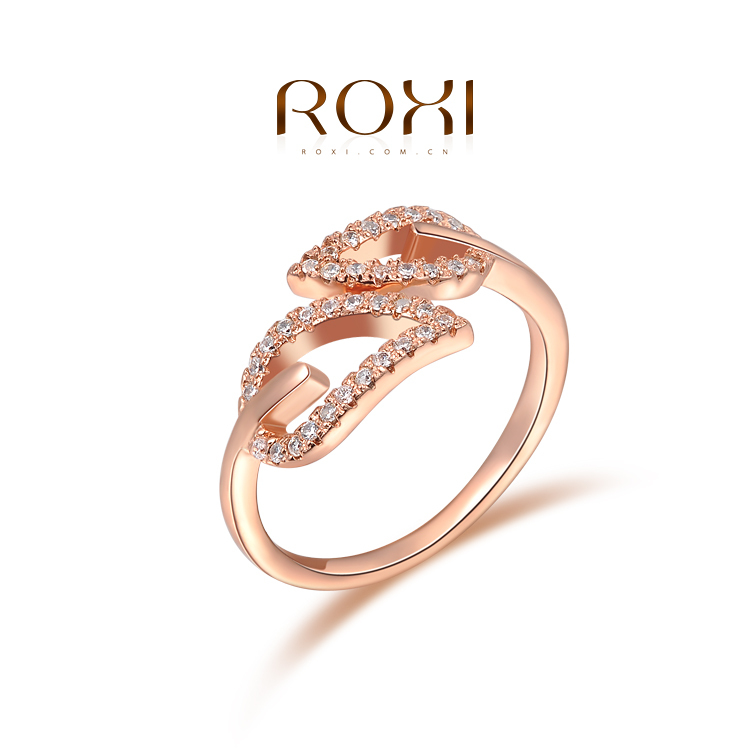 ROXI 2015 New Fashion Hot Selling Factory Price-2015 Spring Korean Personalized And Fashion Ring Green leaf ring(China (Mainland))