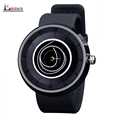 2016 men s gift Enmex neutral coil hands design wristwatch creative dial breathe freely strap simple