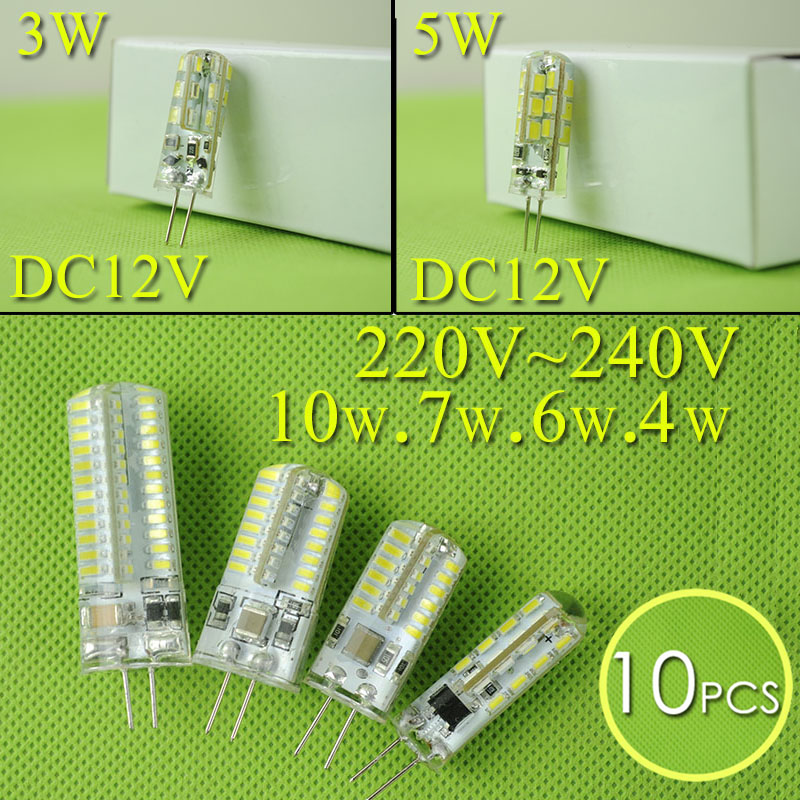 10PCS DC 12V AC 220V Led G4 Corn Bulbs 3W 4W 5W 6W 7W 10W spotlight SMD 3014 2835 Replace 20w 30w 40w Halogen Chandelier Lamps(China (Mainland))