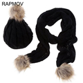2015 New Fashion Women Scarf Set Thick Warm Hat Scarf and Gloves Set Winter Hats Scarfs Sets with Pockets Women's Hats