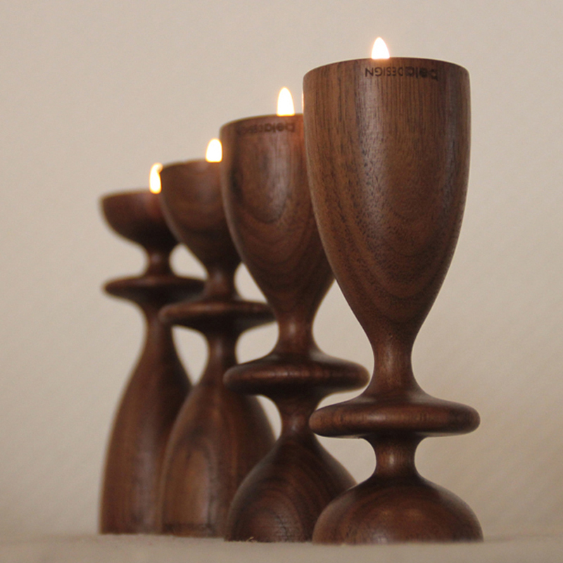 Beladesign Wooden Candleholder, Home Decoration Gifts, American Walnut Candlestick(China (Mainland))