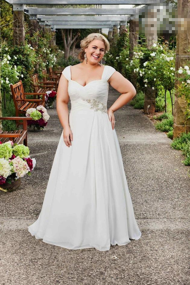 2015 spring cheap plus size garden wedding dresses cap for Cheap plus size lace wedding dresses