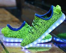WEISE 7 Colors luminous shoes unisex led glow shoe men&women fashion USB rechargeable light led shoes for adults led shoes 35046(China (Mainland))