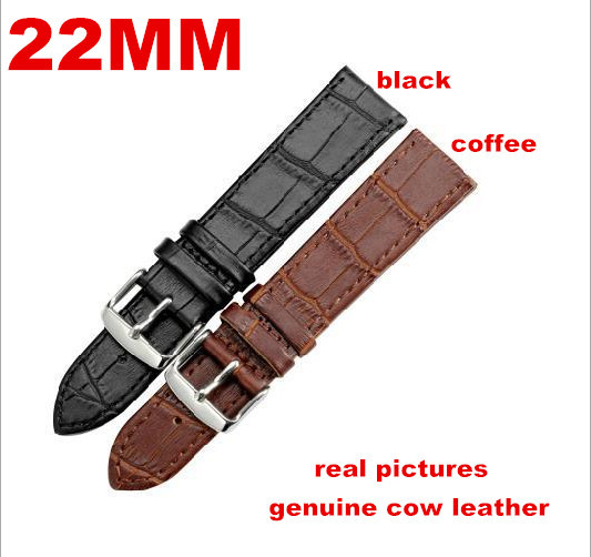 Здесь можно купить  Wholesale 10PCS/lot High quality 22MM Banboo grain genuine leather band Watch band watch straps waterproof watch strap- WBB96  Часы