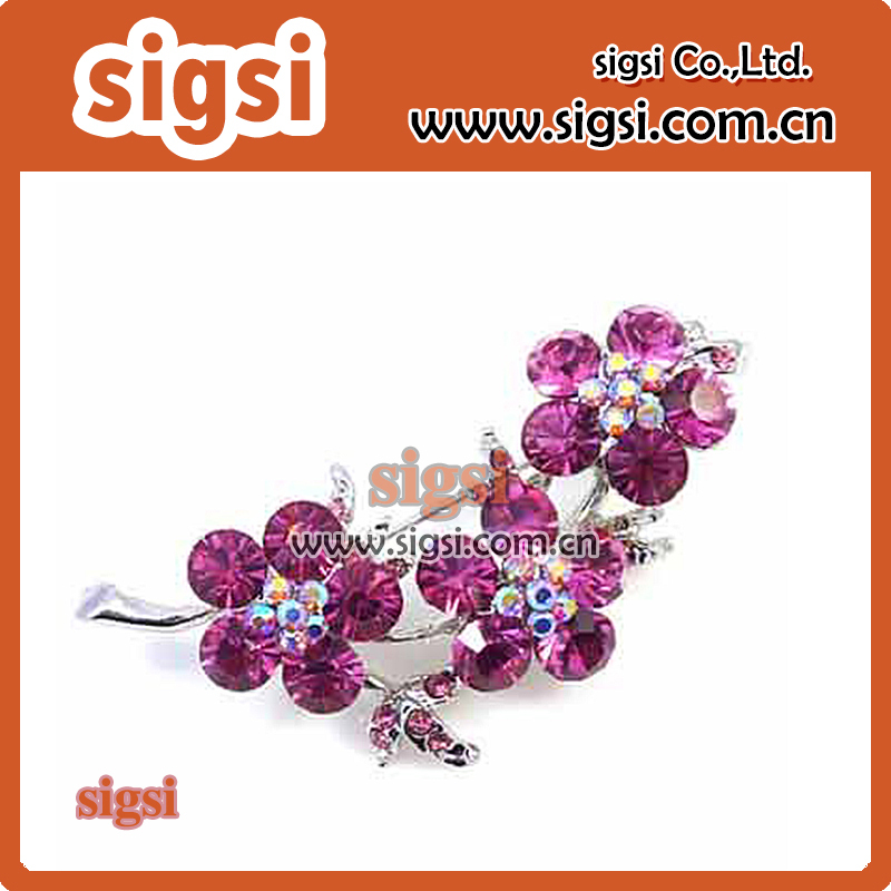 metal crystal flower acrylic rhinestone brooch for wedding invitation(China (Mainland))