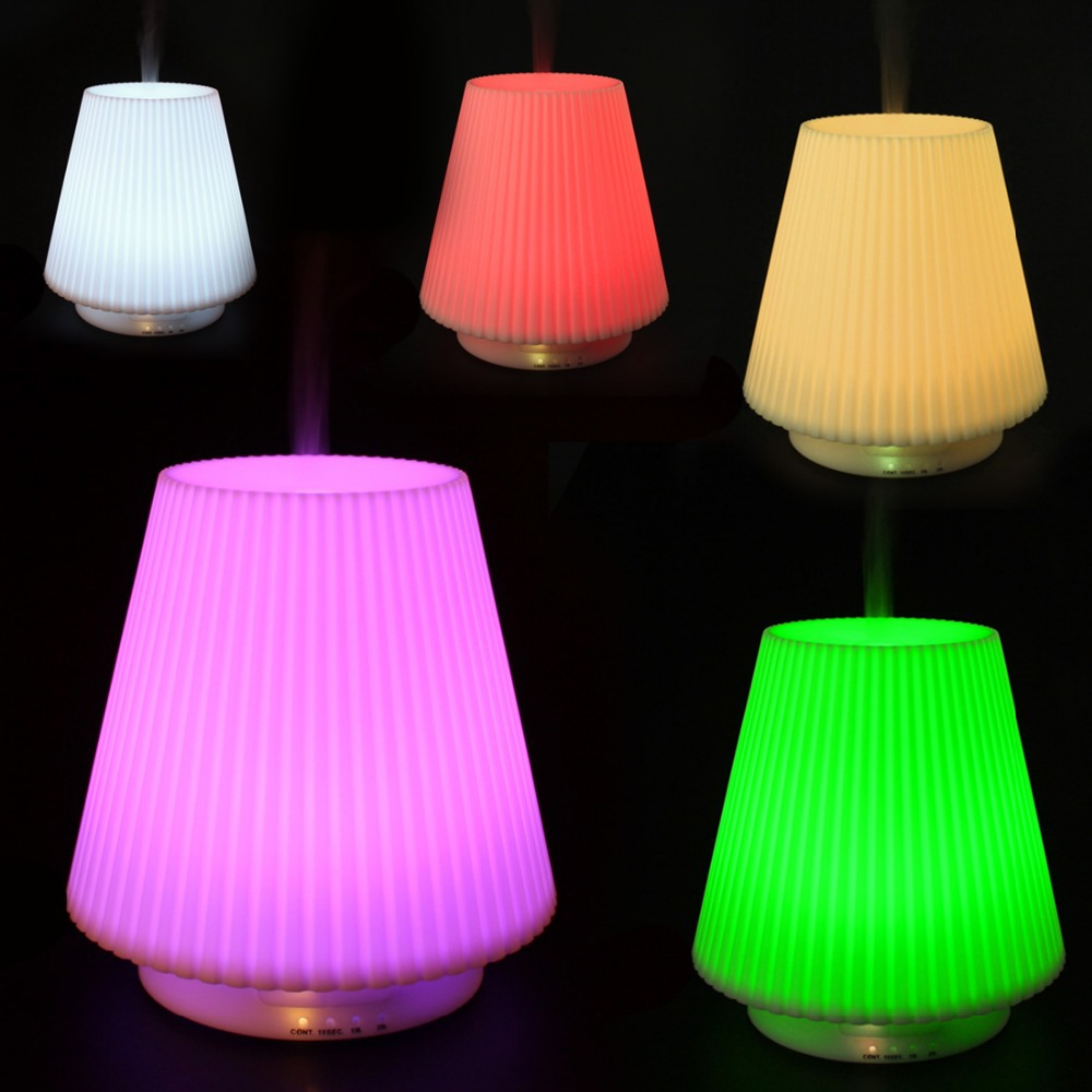 Гаджет  100ml  7 Colors Changing Table Lamp Type Ultrasonic Diffuser Aromatherapy Humidifier essential oil diffuser None Бытовая техника