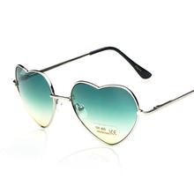 2015 New Retro Heart Shaped Women s Sun Glasses Goggle Eyewear Anti UV 400 Alloy Frame