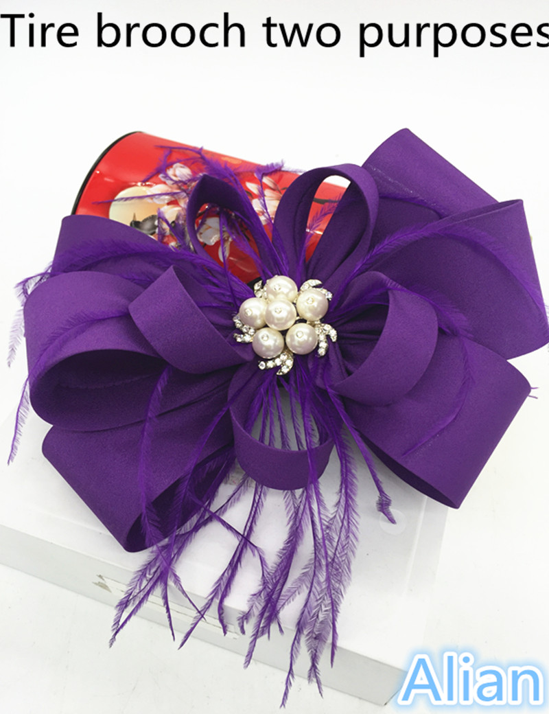 Alian Lady Sinamay Fascinator Hat Girls Pillbox Hat with Clip Vintage Polyester Cocktail Headpiece Navy purple(China (Mainland))