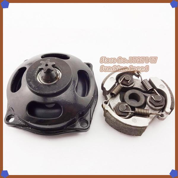25H 6T Gear Box Drum Clutch No Keyway For 47 49cc Mini Pocket Dirt Bike Mini Moto ATV Motorcycle(China (Mainland))